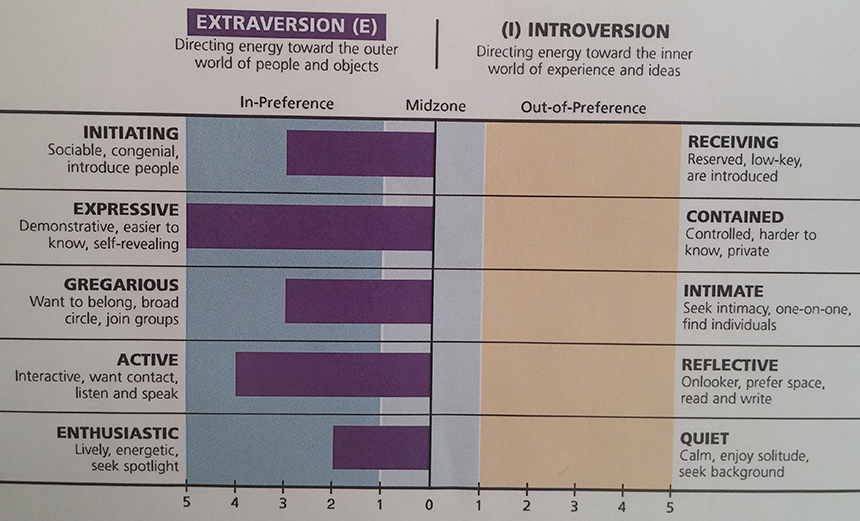 Myers Extraversion